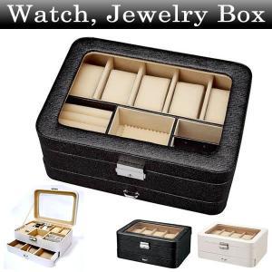 腕時計・アクセサリーケース ウォッチ コレクションBOX ボックス 腕時計ケース 5本用 保管 収納|amonduul