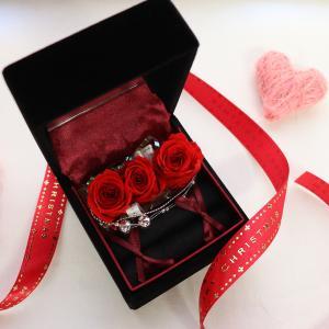 プリザーブドフラワー リングケース プロポーズ 彼女 赤いバラ 指輪入れ クリスマス プレゼント ギフト 贈り物