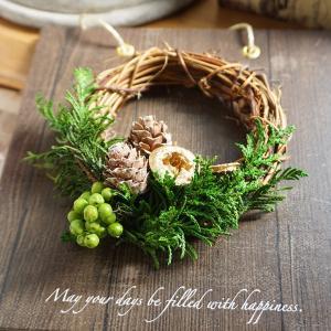 クリスマスリース ボード 茶 インテリア プリザーブド 誕生日プレゼント クリスマス ギフト プレゼント|ampoule-shop