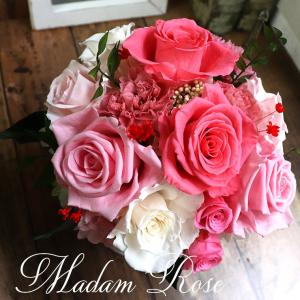 新築祝い プリザーブドフラワー プレゼント 結婚記念日 花 プリザーブドフラワー 妻 誕生日 プレゼント ギフト バラ カーネーション 「マダムローズ ローズ」|ampoule-shop