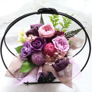 母の日 2021 花 プリザーブド 古希 喜寿 お祝い  80代  還暦祝い 喜寿祝い 米寿祝い  花  女性 和風 プリザーブドフラワー  誕生日 60代 70代 花  お祝い 舞華|ampoule-shop