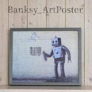 アートポスター バンクシー Robot アートパネル 壁掛け アートフレーム 絵画 ウォールインテリ...