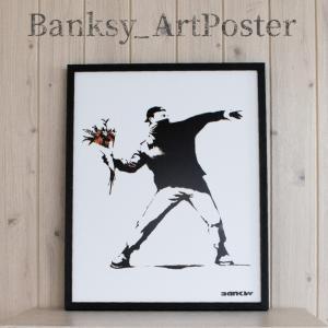 アートポスター バンクシー Molotov アートパネル 壁掛け アートフレーム 絵画 ウォールイン...