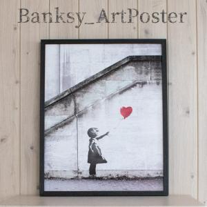 アートポスター バンクシー Red Balloon アートパネル 壁掛け アートフレーム 絵画 ウォ...