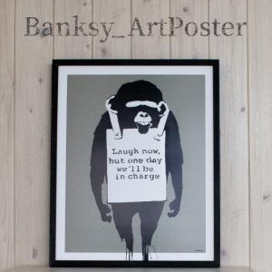 アートポスター バンクシー Laugh Now アートパネル 壁掛け アートフレーム 絵画 ウォール...