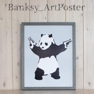 アートポスター バンクシー Panda with Guns アートパネル 壁掛け アートフレーム 絵...