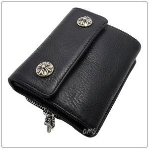 クロムハーツ 財布(Chrome Hearts)ウォレット・リル・スプーン・ブラック・ヘビー・レザー