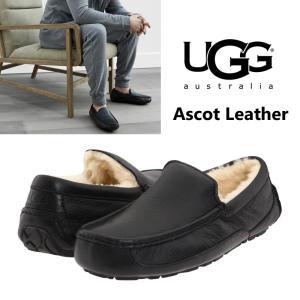 UGG  アグ メンズ ASCOT leather アスコットレザー スリッポン ローファー シープスキン 本革 正規品 送料無料 US直輸入|amscloset