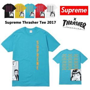 Supreme シュプリーム スラッシャー Tシャツ Tee  M ブルー ステッカー付き 正規品 送料無料 US直輸入 即日発送|amscloset