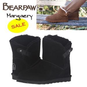 BearPaw ベアパウ Margaery シープスキン スエード ショートブーツ  ブラック 正規品 送料無料 US直輸入|amscloset
