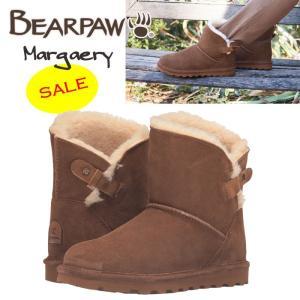 BearPaw ベアパウ Margaery シープスキン スエード ショートブーツ ヒッコリー ブラウン  正規品 送料無料 US直輸入|amscloset