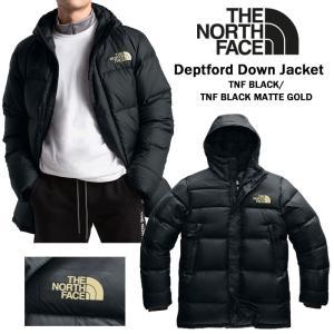 The North Face ノースフェース DEPTFORD DOWN JACKET ダウンジャケット アウター メンズ ブラック マットゴールド ミドル丈 正規品・送料無料・US直輸入 amscloset