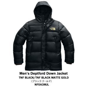 The North Face ノースフェース DEPTFORD DOWN JACKET ダウンジャケット アウター メンズ ブラック マットゴールド ミドル丈 正規品・送料無料・US直輸入 amscloset 02