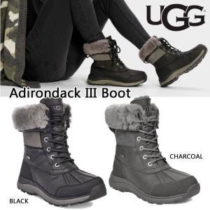 UGG アグ ADIRONDACK BOOT III アディロンダック スノーブーツ 防水 撥水 ブーツ ボア レディース ブラック グレー 正規品 送料無料 US直輸入|amscloset
