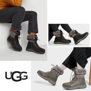 UGG アグ ADIRONDACK BOOT III アディロンダック スノーブーツ 防水 撥水 ブーツ ボア レディース ブラック グレー 正規品 送料無料 US直輸入|amscloset|02