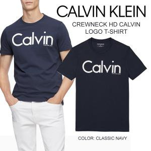 Calvin Klein Jeans カルバンクライン crewneck HD logo T クルーネック Calvin ロゴ Tシャツ メンズ ネイビー 紺 正規品 送料無料 US直輸入|amscloset