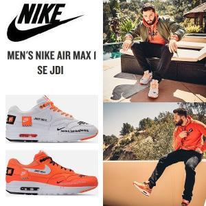 NIKE AIR MAX 1 SE JDI ナイキ エアマックス1 Just Do It スニーカー メンズ オレンジ 白 正規品 送料無料 日本未発売