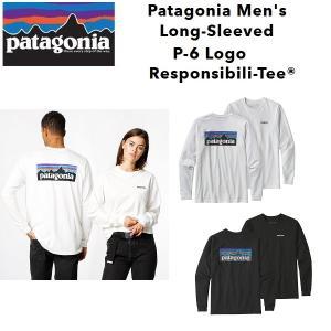 Patagonia パタゴニア Long-Sleeved P-6 Logo Responsibili-Tee メンズ 長袖Tシャツ バックロゴプリント レスポンシビリティー 正規品 送料無料 US直輸入