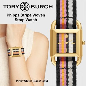 【TORY BURCH】 Phipps Stripe Woven Strap Watch (TBW7...