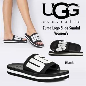 UGG Zuma Logo Slide Sandal アグ ズーマ  ロゴ  スライド サンダル ブラック 黒 BLACK  5729483 正規品 送料無料 US直輸入|amscloset
