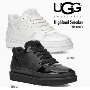 UGG アグ ハイライト Highland Sneaker 厚底 スニーカー レディース  ブラック オールホワイト 1111336 送料無料 正規品 US直輸入|amscloset