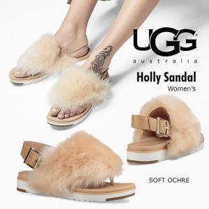 UGG Holly アグ ホリー トング フラット サンダル バックストラップ付き ふわふわ ロングファー ファーサンダル 正規品・送料無料・US直輸入|amscloset