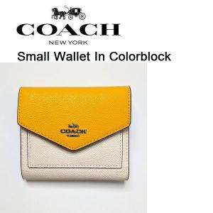 dc7e75d267f1 Coach Small Wallet In Colorblock コーチ スモールウォレット カラーブロック 三つ折り 財布 ミニウォレット  27252 ...