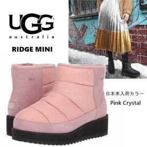 UGG アグ RIDGE MINI ブーツ ムートンブーツ ボア  ピンク スエード 厚底ブーツ 正規品 送料無料 US直輸入|amscloset