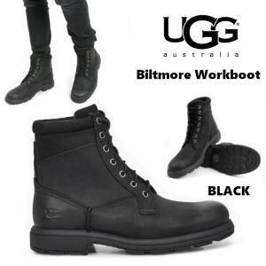UGG Biltmore Workboot アグ ビルトモア ワークブーツ メンズ レースアップ ブラック 防水 正規品 送料無料 US直輸入|amscloset