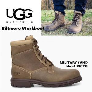 UGG Biltmore Workboot アグ ビルトモア ワークブーツ メンズ レースアップ ベージュ 防水 正規品 送料無料 US直輸入|amscloset
