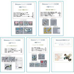 〈WindowsRhinoV5版基本セット〉 ジュエリーCAD検定初級、中級、上級、実践と、思考テク...