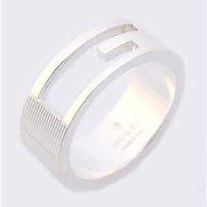 グッチ 指輪 GUCCI リング ブランデッドレギュラーGリング Gマーク シルバー 032660 09840 8106|amulet