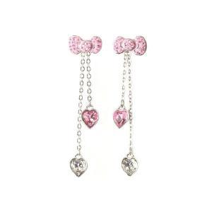 スワロフスキー SWAROVSKI ハローキティ コラボ ピアス Hello Kitty Pink Bow  1097206 レディース メンズ ブランド 新作 amulet