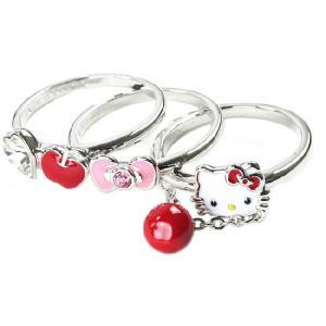 スワロフスキー SWAROVSKI ハローキティ コラボ リング 10号 Hello Kitty Stacked  1097214 レディース メンズ ブランド 新作 amulet