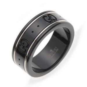 グッチ 指輪 GUCCI リング GGアイコンリング ブラック コランダム ホワイトゴールド 225985 I19A1 8061|amulet
