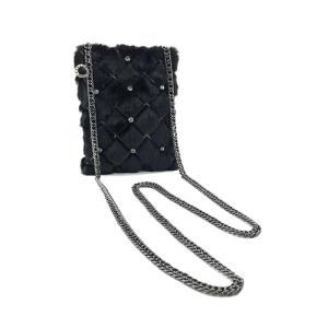 アンテプリマ バッグ ANTEPRIMA ショルダーバッグ チェーンバッグ ファー ポシェット ペリッチャ エコ PELLICIA ECO ブラック PL16FDY703-099-000|amulet