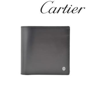 カルティエ 財布 Cartier パシャ 二つ折り財布 カーフ ブラック 3000137/メンズ/レディース|amulet