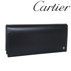 カルティエ 財布 Cartier パシャ 長財布 カーフ ブラック 3000440/メンズ/レディース|amulet