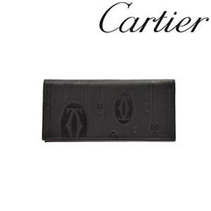カルティエ 財布 Cartier パシャマトリックス 二つ折り長財布 カーフ ブラック 3001212/メンズ/レディース|amulet