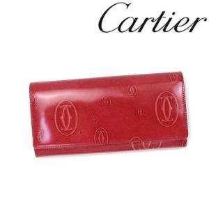 カルティエ 財布 Cartier ハッピーバースデイ 長財布 長札ファスナー カーフ レッドポピー 3001252/メンズ/レディース|amulet