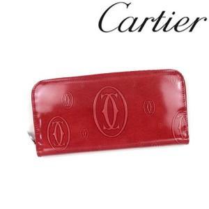 カルティエ 財布 Cartier ハッピーバースデイ ラウンドファスナー長財布 カーフ レッドポピー 3001253/メンズ/レディース|amulet