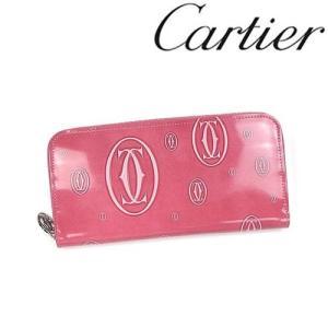 カルティエ 財布 Cartier ハッピーバースデイ ラウンドファスナー長財布 カーフ ピンク 3001255/メンズ/レディース|amulet