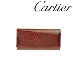 カルティエ 財布 Cartier ハッピーバースデイ 長財布 長札ファスナー カーフ ボルドー 3001281/メンズ/レディース|amulet