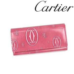 カルティエ 財布 Cartier ハッピーバースデイ 長財布 長札ファスナー カーフ ピンク 3001282/メンズ/レディース|amulet