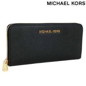 マイケルコース 財布 MICHAEL KORS 長財布 ラウンドファスナー / ブラック ゴールド 32S3GTVE3L 001 メンズ レディース|amulet