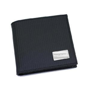 ブルガリ 財布 BVLGARI ミレリゲ 二つ折り財布 レザー ブラック 25541|amulet