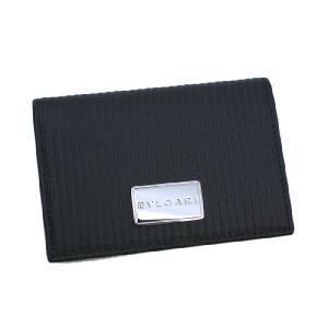 ブルガリ カードケース ミレリゲ  名刺入れ PVC レザー ブラック 27694   レディース メンズ ブランド 新作|amulet