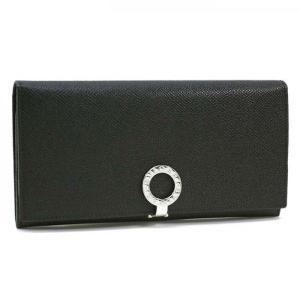 ブルガリ 長財布 BVLGARI 革 グレインレザー クリップ ブラック 30412   レディース メンズ ブランド 新作|amulet
