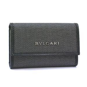 ブルガリ キーケース BVLGARI ウィークエンド 6連キーケース PVC レザー グレー ブラック 32583 レディース メンズ ブランド|amulet