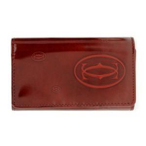 カルティエ キーケース Cartier 6連 ハッピーバースデー HAPPY BIRTHDAY レザー ボルドー L3000929|amulet